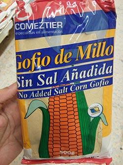 gofio comeztier millo sin sal añadida