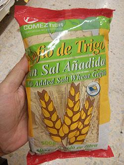 gofio comeztier trigo sin sal añadida