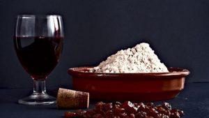 gofio con vino tinto rala de vino