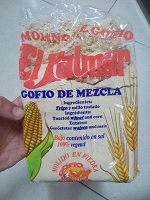 Gofio El Palmar de trigo y millo