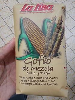 Gofio La Piña Mezcla de Millo y trigo