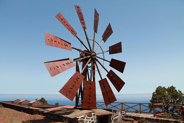Molino en Garafía La Palma sistema Ortega